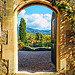 An Open Doorway of the Château de Lourmarin par Massimo Battesini - Lourmarin 84160 Vaucluse Provence France