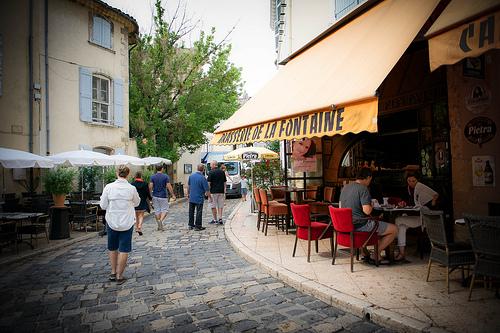 Lourmarin, Brasserie de la Fontaine par Ann McLeod Images