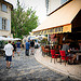 Lourmarin, Brasserie de la Fontaine by Ann McLeod Images - Lourmarin 84160 Vaucluse Provence France