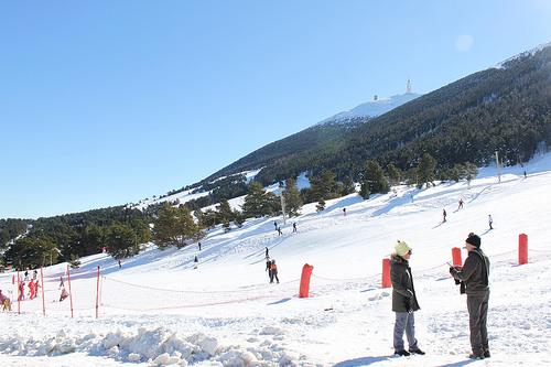 Ski au Mont Serein - face Nord du Ventoux par gab113