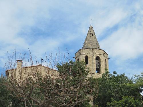 Parish church tower of Mazan by Sokleine