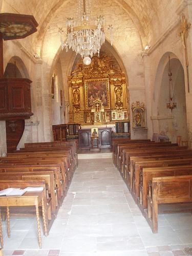 Intérieur de l'église de Méthamis par gab113