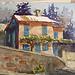 Aquarelle de Provence : Monieux par skschang - Monieux 84390 Vaucluse Provence France