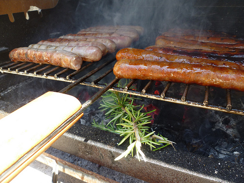 Saucisses, thym et Barbecue by gab113