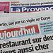 Journaux : La Provence, Aujourd'hui en France par gab113 - Mormoiron 84570 Vaucluse Provence France