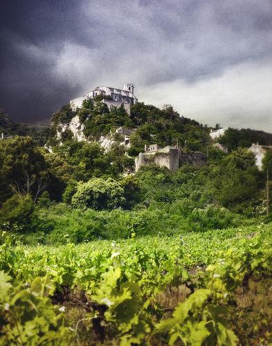 Oppède perché au milieu des vignes by Patrick Bombaert