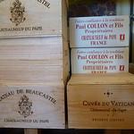 Caisses de Vin - Châteauneuf-du-Pape par  - Orange 84100 Vaucluse Provence France