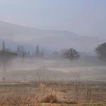 Brumes matinales à Robion par Charlottess - Robion 84440 Vaucluse Provence France