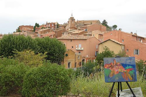 Peinture à Rousillon par mistinguette18