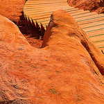 Ocre carpet : The Sentier des Ocres by C.R. Courson - Roussillon 84220 Vaucluse Provence France