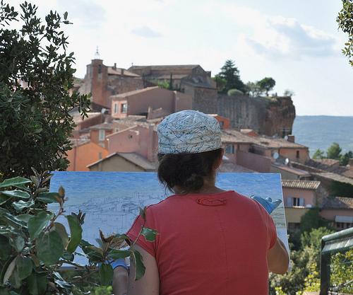 Peinture et inspiration à Roussillon par Idealist'2010