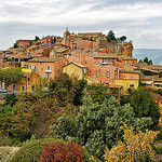 Roussillon colors in Autumn par philhaber - Roussillon 84220 Vaucluse Provence France