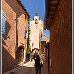 La tour clocher de Roussillon by  - Roussillon 84220 Vaucluse Provence France