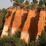 Roussillon, les falaises du chemin des ocres par Pab2944 - Roussillon 84220 Vaucluse Provence France