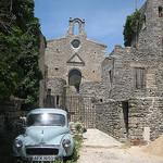 Saignon with old car by barbgl2545 - Saignon 84400 Vaucluse Provence France