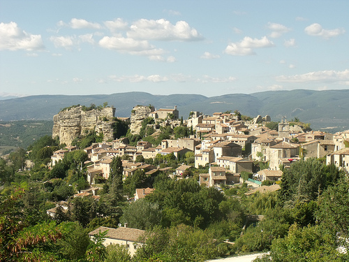 Saignon village by george.f.lowe