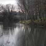 La rivière Ouvèze en hiver sous un ciel couvert by phildesorg - Sorgues 84700 Vaucluse Provence France