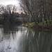 La rivière Ouvèze en hiver sous un ciel couvert par phildesorg - Sorgues 84700 Vaucluse Provence France