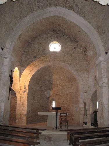 Church interior of Suzette village by Sokleine