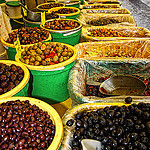 Marché provençal aux olives by Billblues - Vaison la Romaine 84110 Vaucluse Provence France