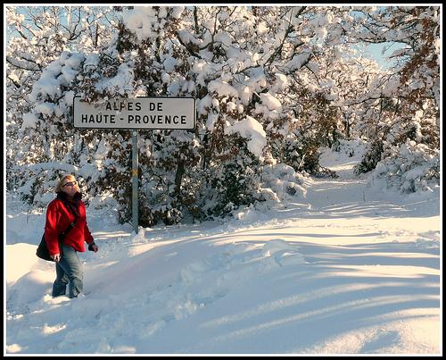 Provence avec de la neige, un conte de fées !!! par J@nine