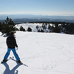 Ski au Chalet Reynard - vu des pistes vers la vallée par gab113 - Bédoin 84410 Vaucluse Provence France