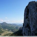Dentelles Sarrasines : vue des crêtes par sabinelacombe - Lafare 84190 Vaucluse Provence France