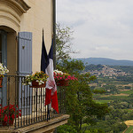 French Flag in Lacoste by patrickd80 - Lacoste 84480 Vaucluse Provence France
