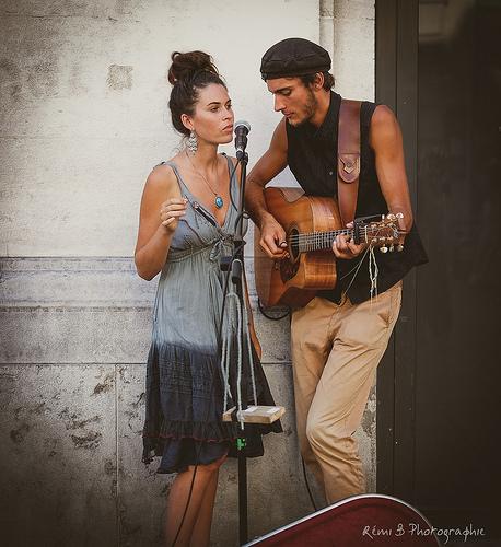 Couple de musiciens - Festival d'Avignon 2016 par Rémi Avignon