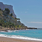 Cassis beach, the end of the coast by  - Cassis 13260 Bouches-du-Rhône Provence France