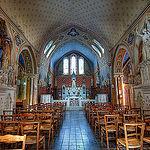Intérieur de l'église d'Aiguèze par deltaremi30 - Aigueze 30760 Gard Provence France