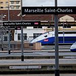 Gare de Marseille Saint-Charles - TGV Prêts au départ par stephanielowezanin - Marseille 13000 Bouches-du-Rhône Provence France