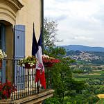 Mairie de Lacoste : overlooking Bonnieux by patrickd80 - Lacoste 84480 Vaucluse Provence France