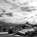 Village de Saint-Apolinaire en Noir et Blanc by Hervé KERNEIS - St. Apollinaire 05160 Hautes-Alpes Provence France