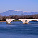 Le pont d'Avignon et le Mont-Ventoux par Laurent2Couesbouc - Avignon 84000 Vaucluse Provence France