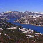 Lac de Serre-Ponçon en février par  - Embrun 05200 Hautes-Alpes Provence France