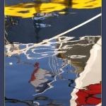 Reflets colorés sans le port de Sanary par Brigitte Mazéas - Sanary-sur-Mer 83110 Var Provence France