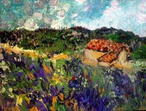 Painting : provence lavender fields by photoartbygretchen
