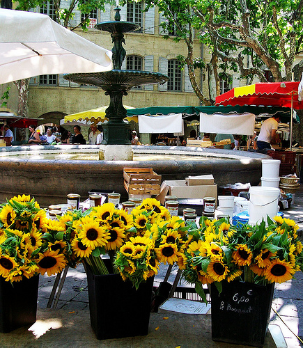 Uzes Market : Sunflowers par photoartbygretchen