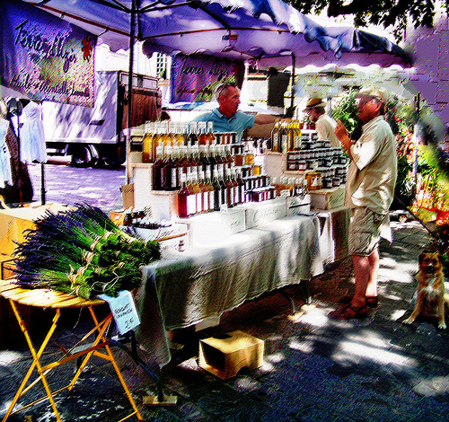 Uzès : market by photoartbygretchen