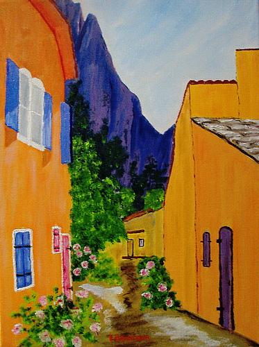 Peinture au pays de la cigale by liolo2010