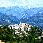 Roquesteron version Aquarelle by chatka2004 - Roquesteron 06910 Alpes-Maritimes Provence France