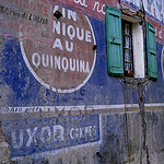 Quinquina - Painted wall, Provence, France by alex donnelly1 - Cannes 06400 Alpes-Maritimes Provence France