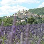 Banon entouré de lavande par  - Banon 04150 Alpes-de-Haute-Provence Provence France