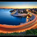 Corniche John Fitzgerald Kennedy de nuit par Fredorod - Marseille 13000 Bouches-du-Rhône Provence France