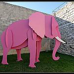 L'éléphant rose by Gramgroum - Lacoste 84480 Vaucluse Provence France