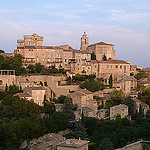 Gordes paysible au couché du soleil by  - Gordes 84220 Vaucluse Provence France