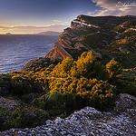 Couché de soleil sur la côte d'azur par  - La Ciotat 13600 Bouches-du-Rhône Provence France