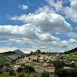 Montbrun les Bains et son château qui domine le village by roterrenner - Montbrun les Bains 26570 Drôme Provence France