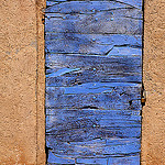 old blue door by  - Roussillon 84220 Vaucluse Provence France